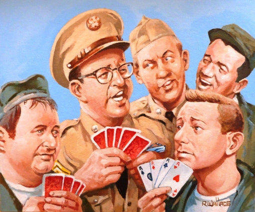 "Roy Wallace ""Phil Silvers as Sgt Ernie Bilko, US Comedy TV series 1955-59 with Doberman and Papperelli"" (2008)"