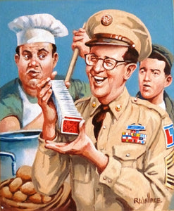 "Roy Wallace ""Phil Silvers as Sgt Ernie Bilko. US Comedy TV series 1955-1959 with Ritzik and Paperelli"""