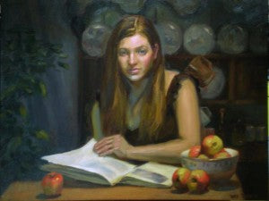 "Ray Tsang ""Study of a girl reading"""