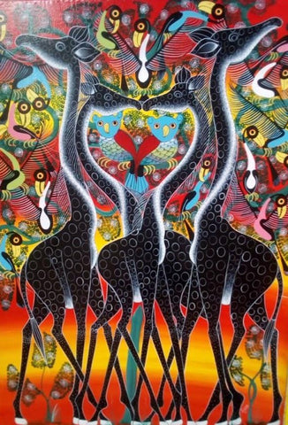"Tanzania Artists Group ""Giraffes portraying their beauty"""