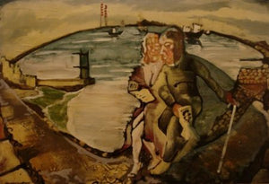 "Tom Byrne ""James Joyce and Nora Barnacle at Sandymount"""