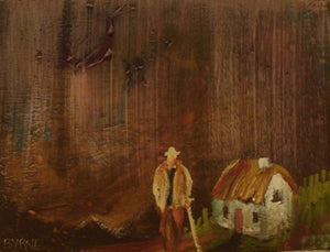 "Tom Byrne ""Old man by cottage"""
