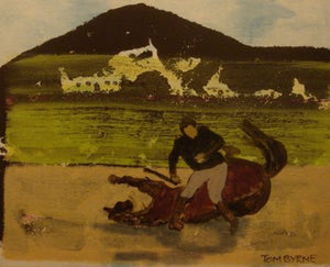 "Tom Byrne ""Man with horse"""