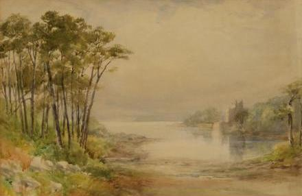 "William Bingham McGuinness RHA ""Derryquin Castle, Killarney"""