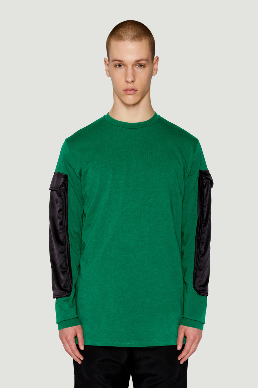 AW17 Pocket Long Sleeve Green