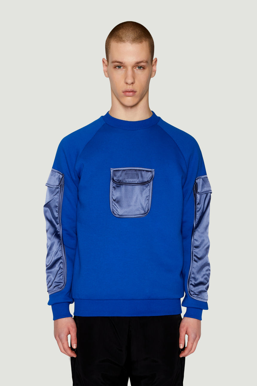 AW17 Pocket Sweatshirt Blue