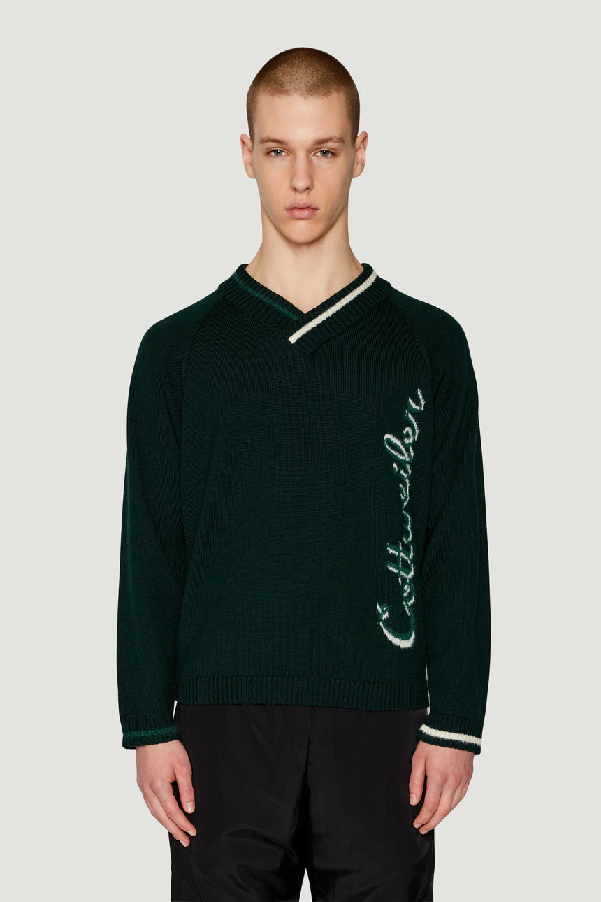 AW19 Signature Knit Green