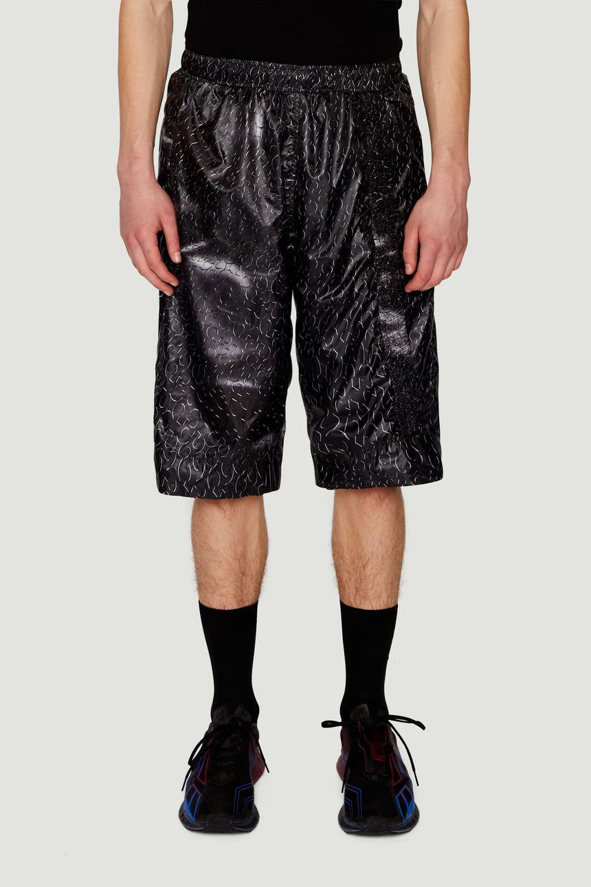 SS19 Monogram Shorts Black