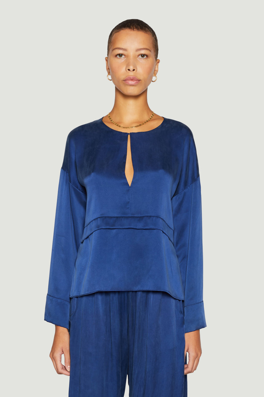 The Kaftan Blouse Navy