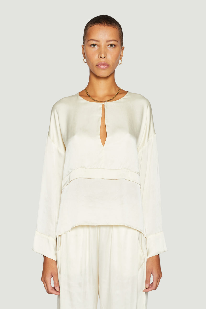 The Kaftan Blouse Ivory