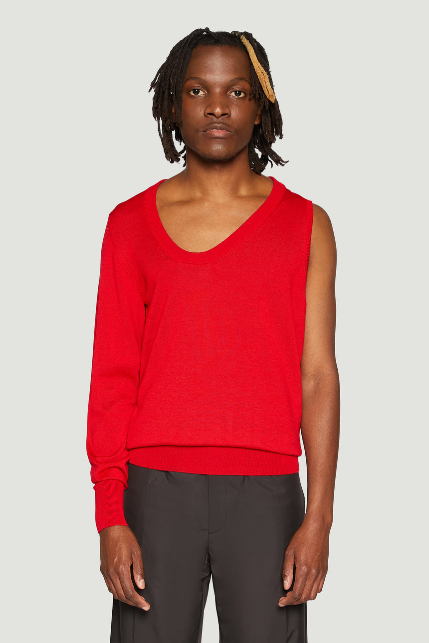 One Sleeve Merino Sweater