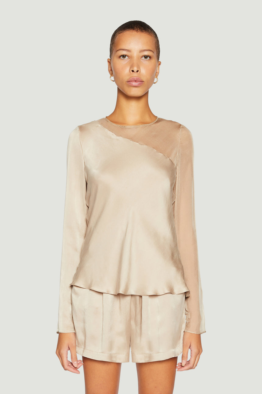 The Contrast Bias Top Nude