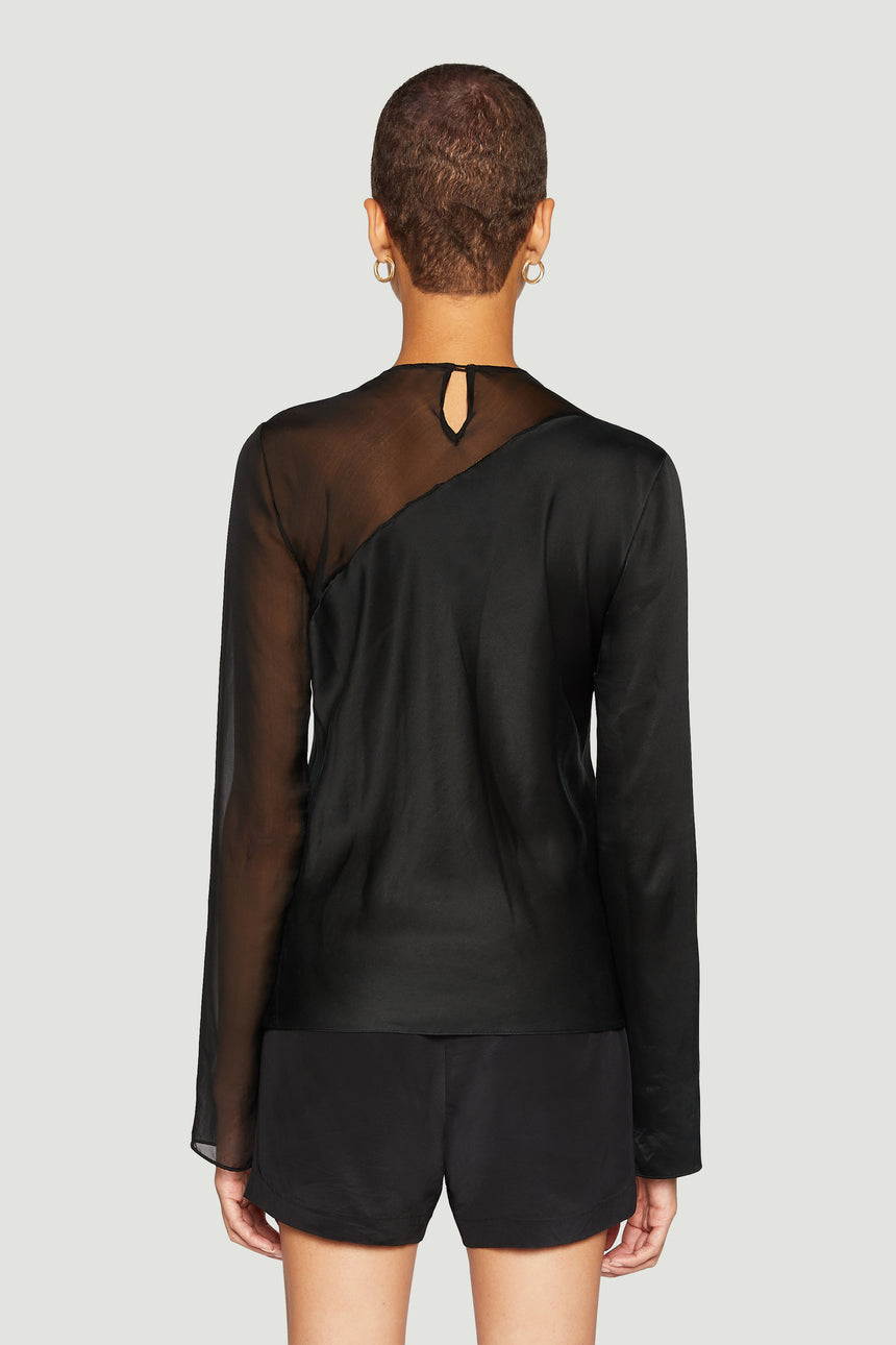 The Contrast Bias Top Black