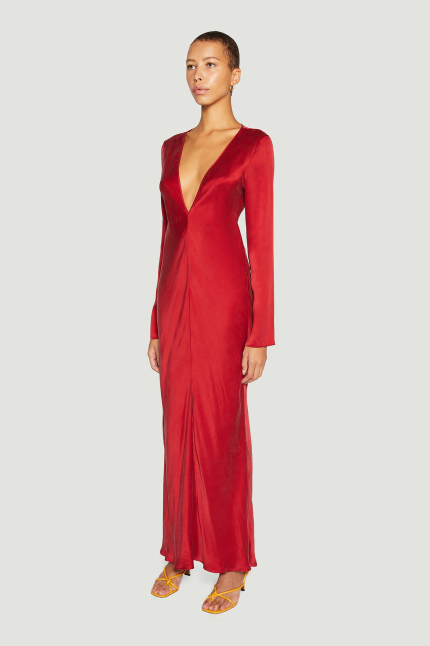 DEEP V BIAS MAXI RED