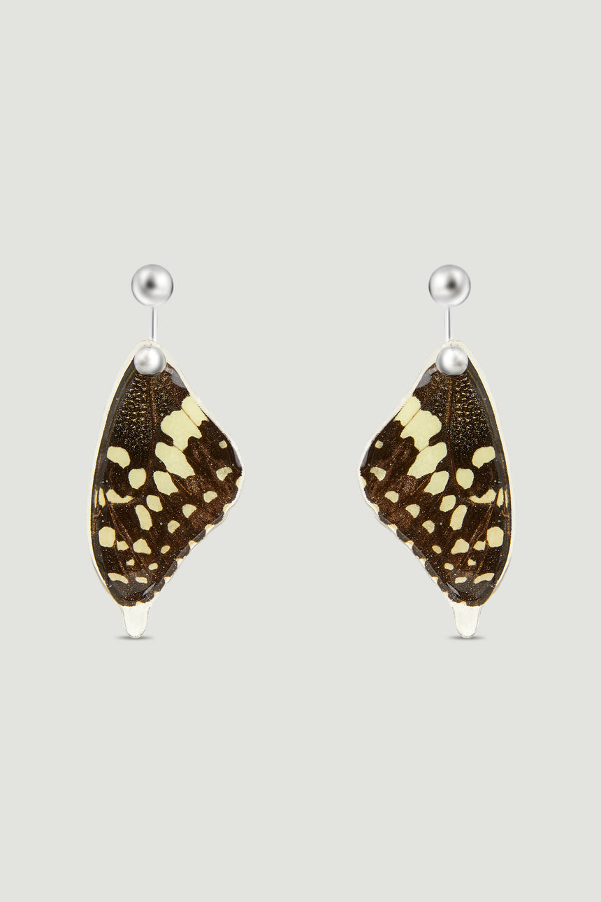 Butterfly Earrings - Yellow & Black