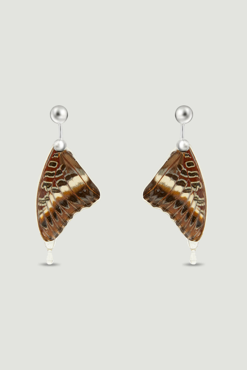 Butterfly Earrings - Brown & Multi