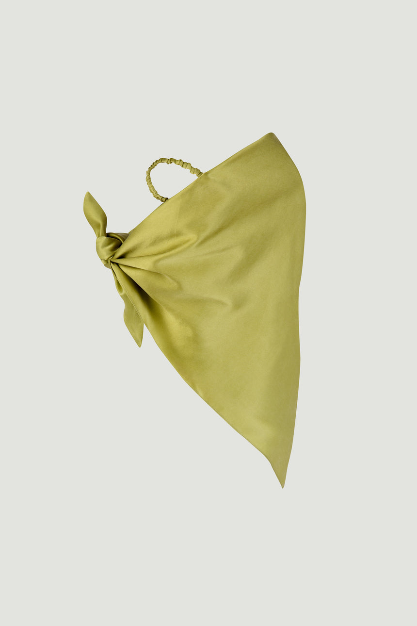 SILK SCARF MASK GREEN
