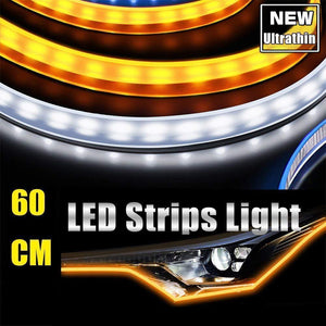 Flexible DRL LED Night & Daytime Running Light Strip-Buy 2  Free Shipping