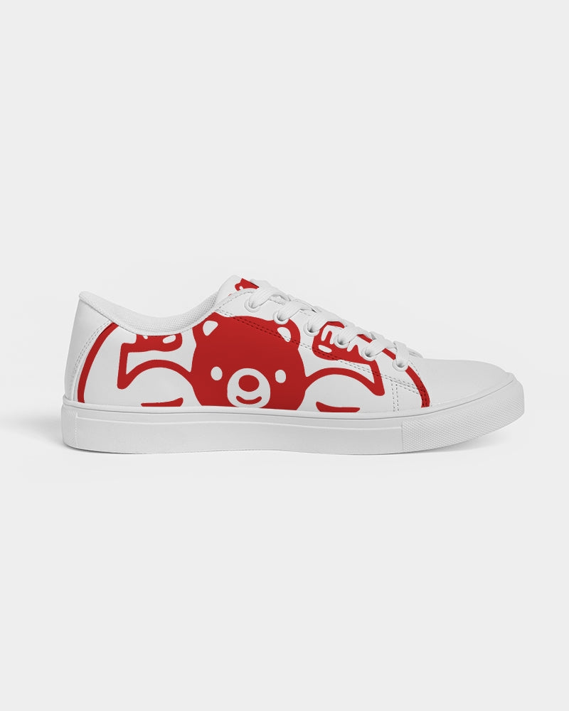 TUFF RED Women's Faux-Leather Sneaker