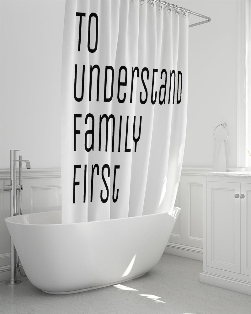 "T.U.F.F Shower Curtain 72""x72"""