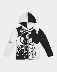 color block graphic hoodie
