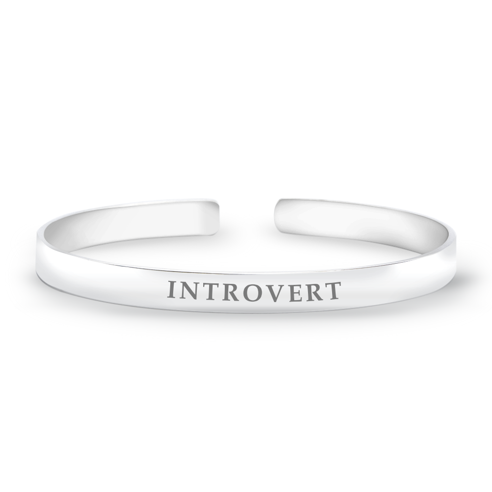 sterling silver introvert bangle