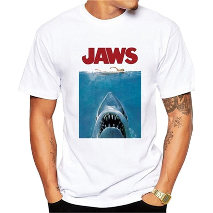 Jaws Shark Poster T-Shirt - Geek Zones