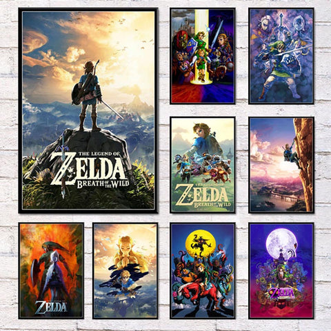 The Legend Zelda Painting Canvas - Geek Zones