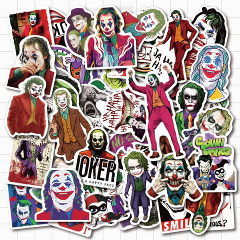 Joker Clown Stickers - Geek Zones