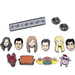 Friends Enamel Pin Badges. - Geek Zones