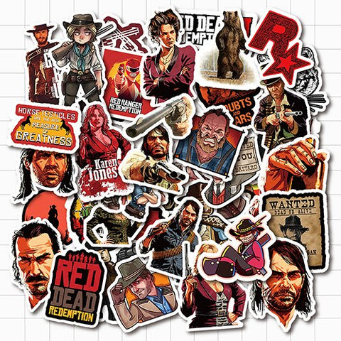 Red Dead Redemption Stickers - Geek Zones