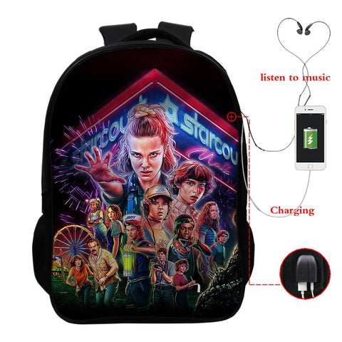 Stranger Things Smart Backpack - Geek Zones