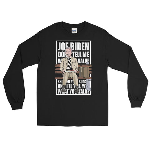 Joe Biden Forrest Gump Long Sleeve Shirt