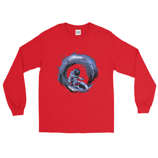 Surfing In Space Long Sleeve Shirt | Comical Apparel