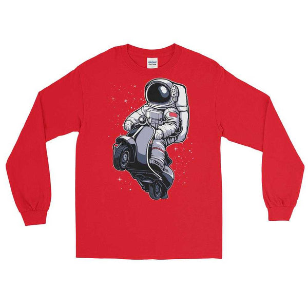 Astronaut Space Scootering Long Sleeve Shirt