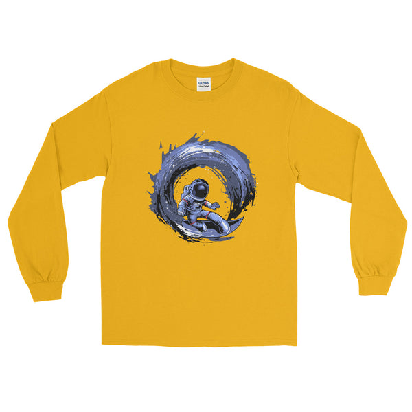 Surfing In Space Long Sleeve Shirt