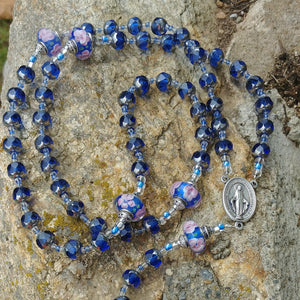 Blue Rosary beads