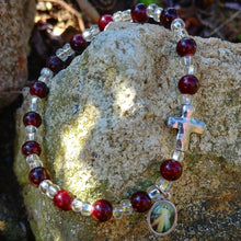 Load image into Gallery viewer, Divine Mercy charm bracelet