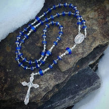 Load image into Gallery viewer, Blue Rosary beads