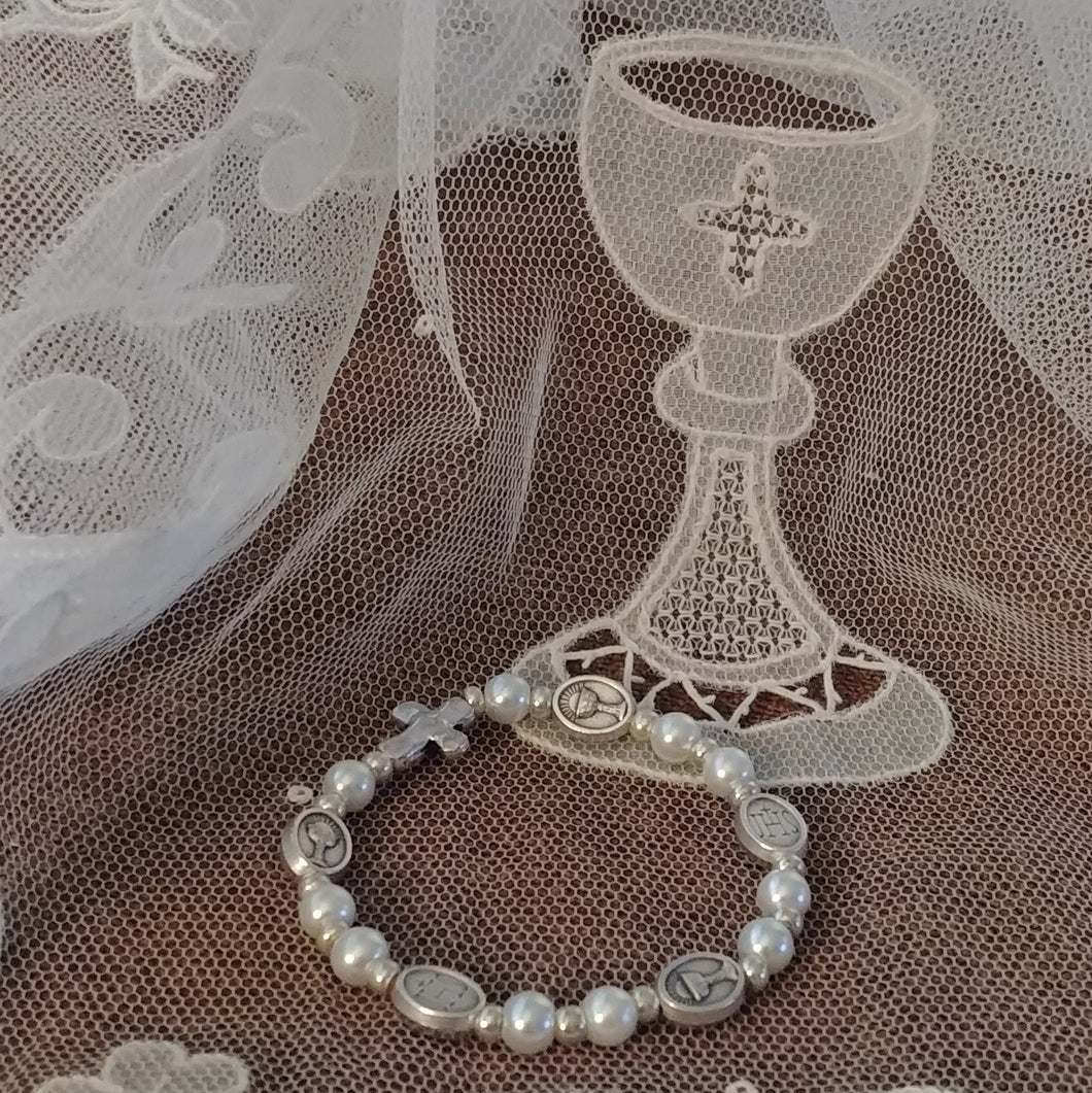 First Holy Communion pearl bracelet
