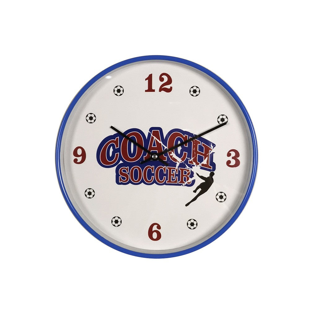 AW19 Slipsten Football Wall Clock 25cm Indigo KIDS