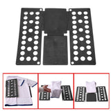 Clothes Laundry Folder Flip Speed Magic Shirts Folding Board Random Colours