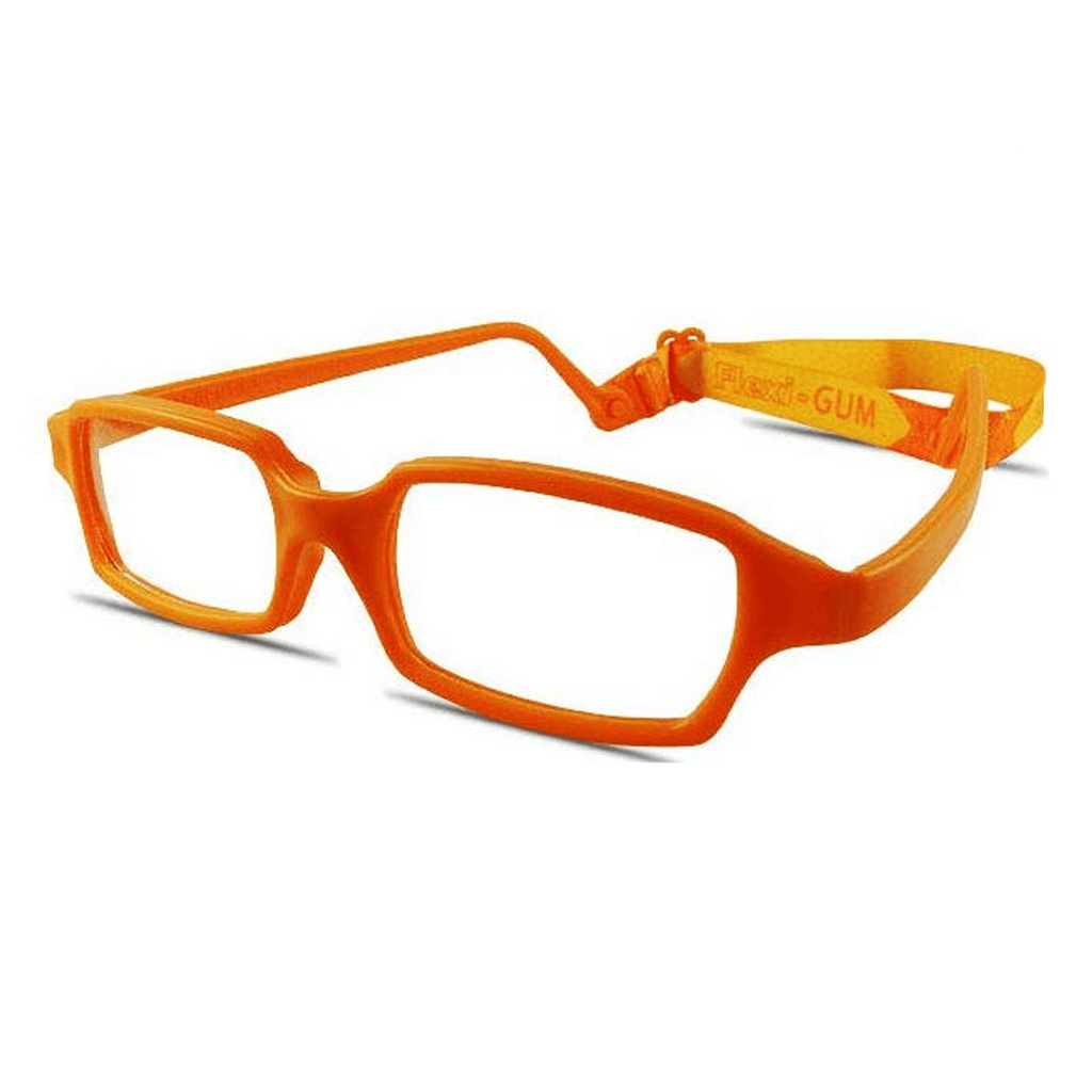 RECTANGULAR Safe-Unbreakable and Flexible Kids Eyeglasses Frame with Strap - Flexi-GUM