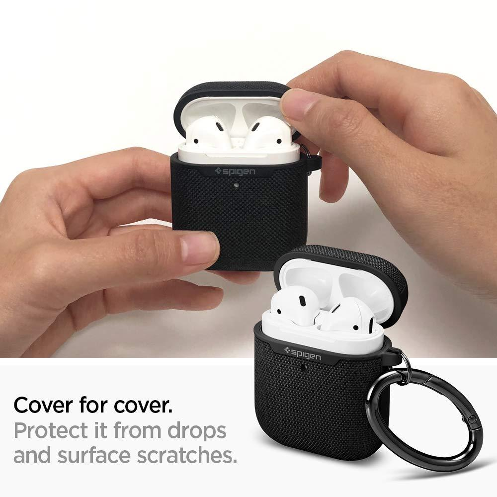 Spigen Urban Fit Designed for Apple Airpods Case Cover for Airpods 2 & 1 [Front LED Visible]