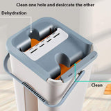 Professional Flat Squeeze Mop With 4 Reusable Mop Pads For Wet Dry Floor Cleaning,