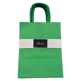 12pc Kraft Paper bags with twisted paper handle Size : 26x21x11cm Green - Willow