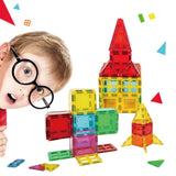 Little Angel - Kids Toys Magnetic Building Blocks 120 Piece 3D Set