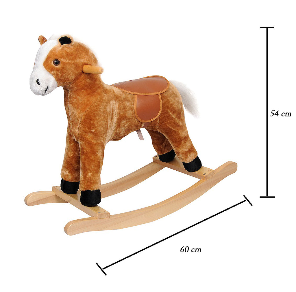 Little Angel - Baby Toy Ride-on Rocking Horse - Light Brown