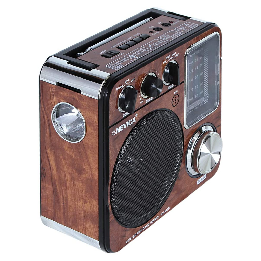 Nevica NV-343R Rechargeable Radio - Brown