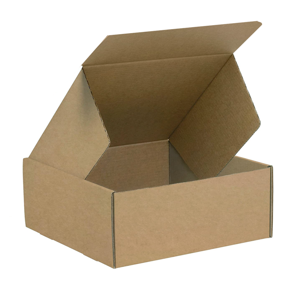 Kraft Paper Box Brown Corrugated Carton 26 x 26 x 9 Cm (10Pc Pack)